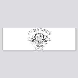 I Wear White for my Dad (flor Sticker (Bumper)