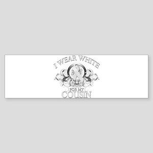 I Wear White for my Cousin (f Sticker (Bumper)