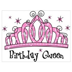 Tiara Birthday Queen Wall Art Poster