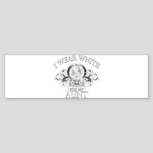 I Wear White for my Aunt (flo Sticker (Bumper)