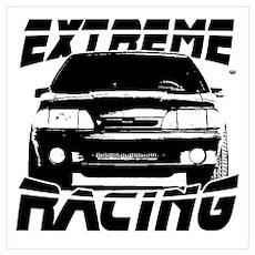 New Mustang Racing Wall Art Poster