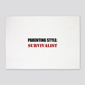 Parenting Style Survivalist 5'x7'Area Rug