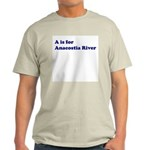 A is for Anacostia River Ash Grey T-Shirt