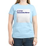 A is for Anacostia River Women's Pink T-Shirt