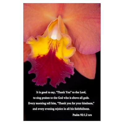 Psalm 92 Wall Art Poster