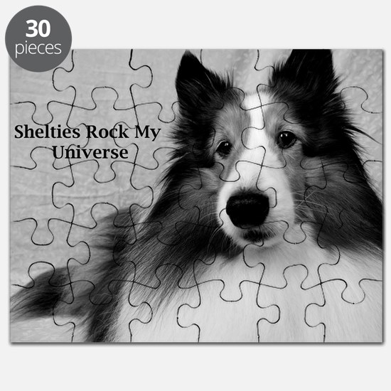 Shelties Rock My Universe Puzzle