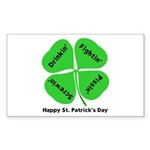 St. Patrick's Day Irish Gear Sticker (Rectangle 50