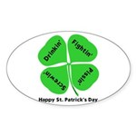 St. Patrick's Day Irish Gear Sticker (Oval 50 pk)