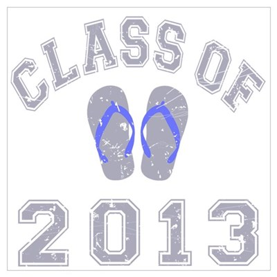 Class Of 2013 Flip Flop Wall Art Framed Print
