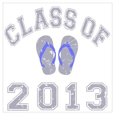 Class Of 2013 Flip Flop Wall Art Poster