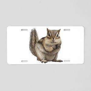 Chipmunk Aluminum License Plate