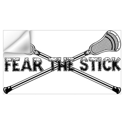 Lacrosse Fear the Stick Wall Art Wall Decal