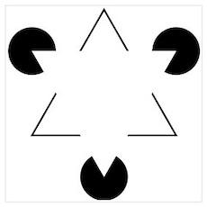 Kanizsa Triangle Wall Art Poster