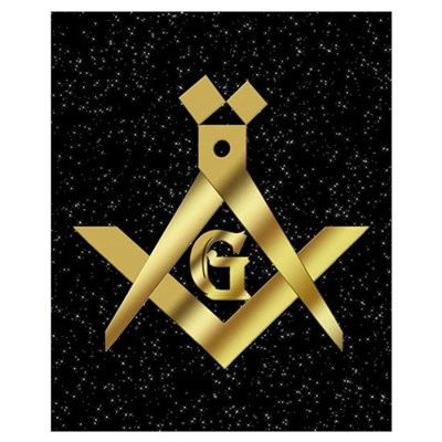 Masonic Master in the sky Wall Art Poster
