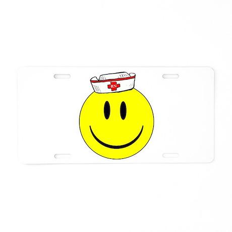 RN Happy Face Aluminum License Plate
