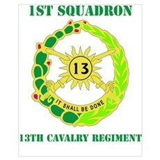 DUI - 1st Sqdrn - 13th Cav Regt with Text Mini Pos Poster
