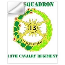 DUI - 1st Sqdrn - 13th Cav Regt with Text Mini Pos Wall Decal