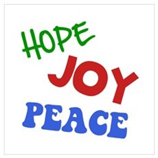 Hope Joy Peace Wall Art Poster