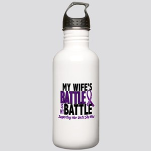 My Battle Too Pancreatic Cancer Stainless Water Bo