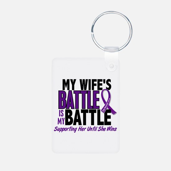 My Battle Too Pancreatic Cancer Keychains