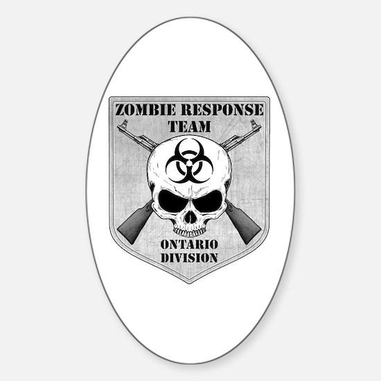 Zombie Response Team: Ontario Division Decal