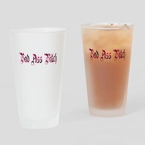 Bad Ass Bitch Drinking Glass