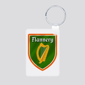 Flannery Family Crest Aluminum Photo Keychain