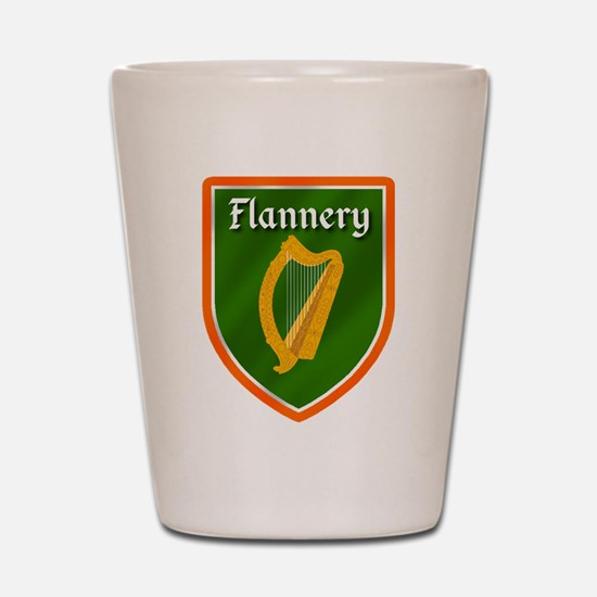 Flannery Family Crest Shot Glass