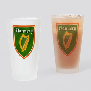 Flannery Family Crest Drinking Glass