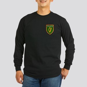 Flannery Family Crest Long Sleeve Dark T-Shirt