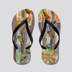 Flip Flops that ask a Question: Can you Canoe?