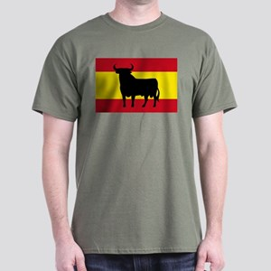 Spain Bull Flag Dark T-Shirt