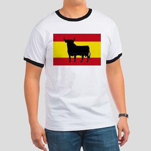 Spain Bull Flag Ringer T