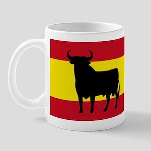 Spain Bull Flag Mug
