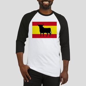 Spain Bull Flag Baseball Jersey