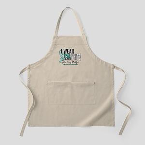 I Wear Teal White 10 Cervical Cancer Apron