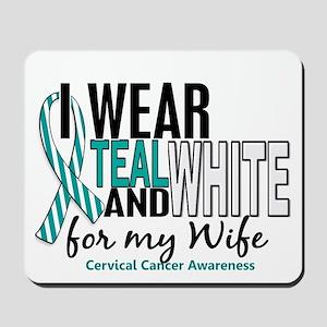 I Wear Teal White 10 Cervical Cancer Mousepad