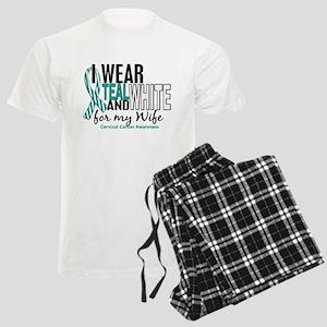 I Wear Teal White 10 Cervical Cancer Men's Light P