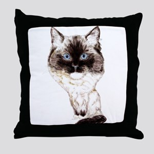 Ragdoll Caricature Throw Pillow