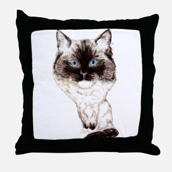 Ragdoll Caricature Throw Pillow