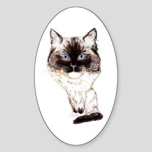 Ragdoll Caricature Sticker (Oval)