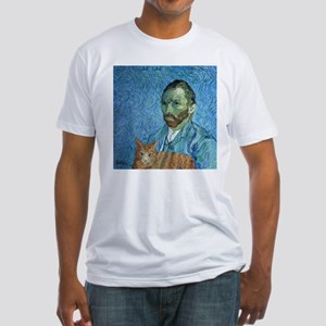 Vincent's Cat Fitted T-Shirt