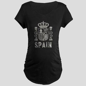 Vintage Spain Maternity Dark T-Shirt