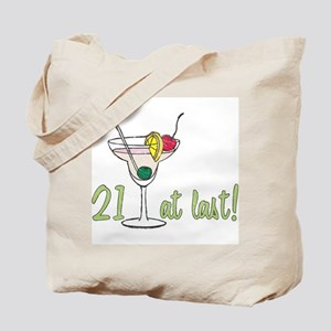 21 at Last B-Day Tote Bag