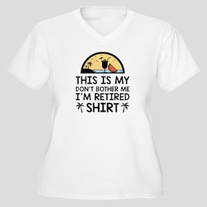 I'm Retired Women's Plus Size V-Neck T-Shirt