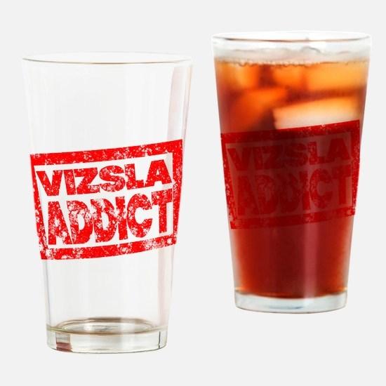 Vizsla ADDICT Drinking Glass