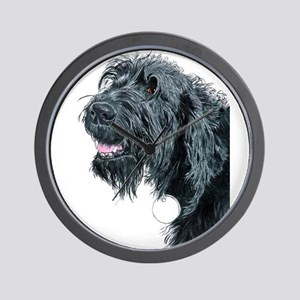 Smiling Labradoodle Wall Clock