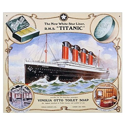 Titanic First Class Soap Wall Art Poster