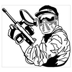 Paintball Wall Art Poster