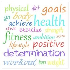 Fitness Collage Wall Art Poster